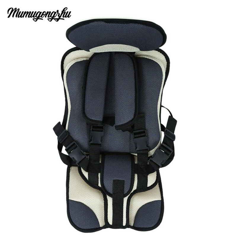 Mumugongzhu Kids Safety Thickening Cotton Adjustable Children Car Seat - Griege - 2891669014