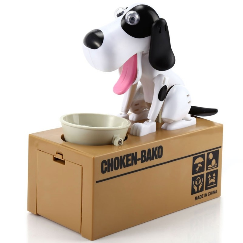 Creative Hungry Dog Model Piggy Bank Saving Pot - Colormix - 2H83261212