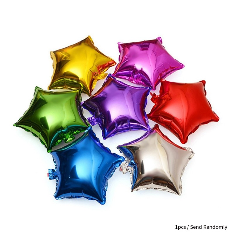 10 inch Five-pointed Star Foil Balloon Auto-Seal Reuse Party / Wedding Decor Inflatable Gift for Children - Hawksbill