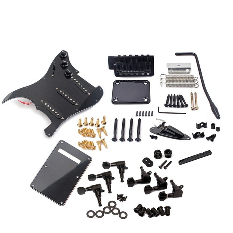 Electric Guitar Kit ST Style Full Accessories Kit Black - Black - 3069830412