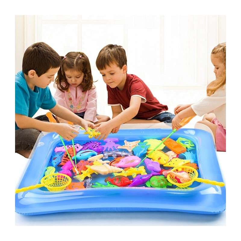 Magnetic Fishing Model Toy Set Kids Gift for Intelligence Development - Multi - 3B82884112
