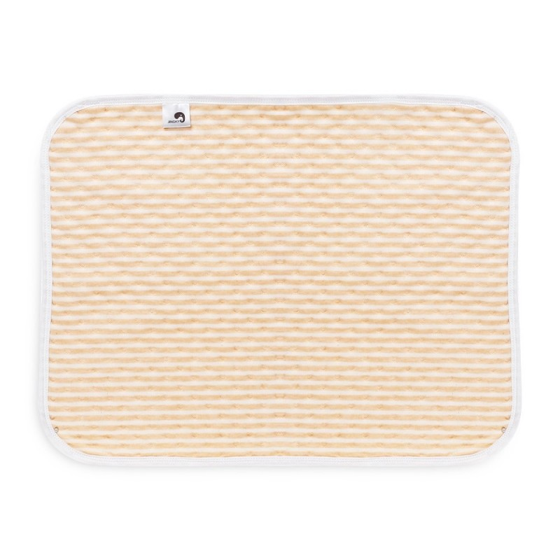 Heart Print Water-resistant Reusable Baby Changing Pad Small Size - Golden Brown - 4O10286013