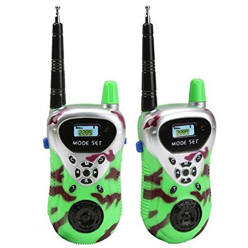 Children Handheld Mini Electronic Walkie Talkie Toy 2PCS - Jade Green - 3892236913