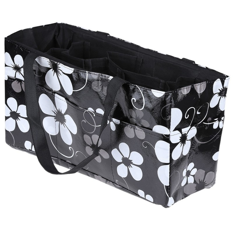 Multipurpose Flower Print Waterproof Separate Mummy Handbag - Black - 2N83282613