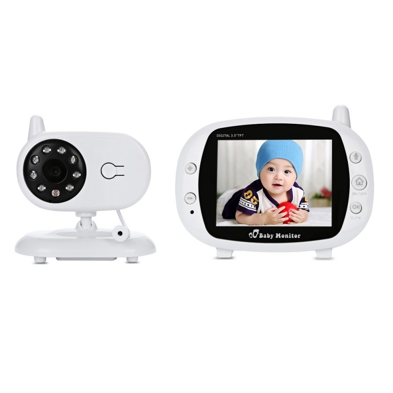 3.5 inch Wireless TFT LCD Video Baby Monitor with Night Vision - White - 3L25408112
