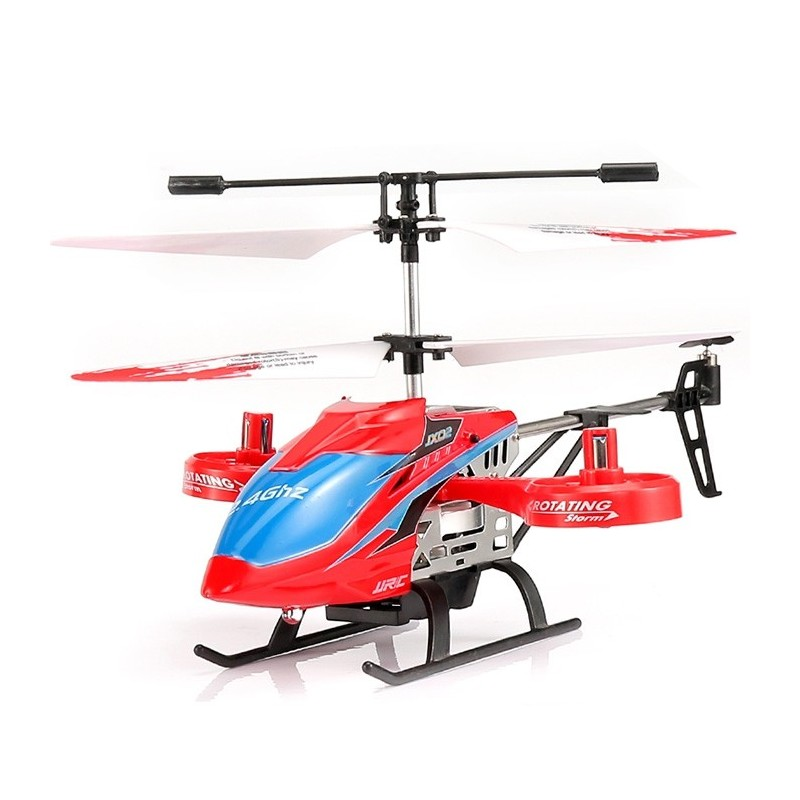 JJRC JX02 2.4G 4CH RC Helicopter Altitude Hold / Side Propellers / Light Control - Red - 5Q57404412