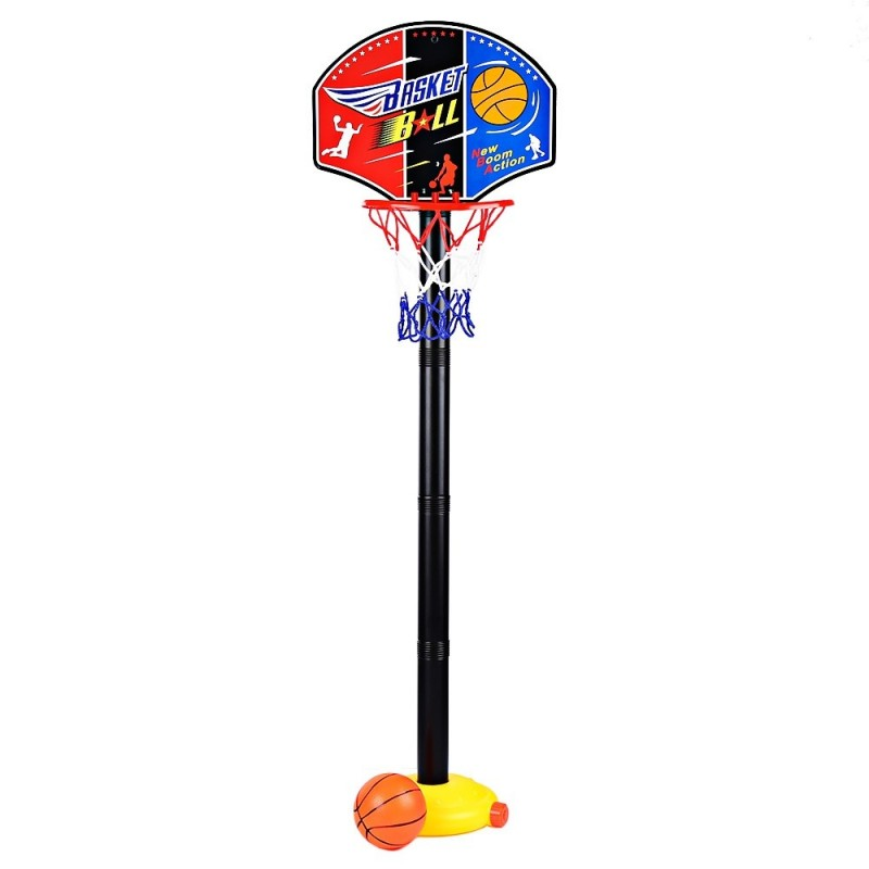 Funny Adjustable Basketball Stand Super Sport Set Child Toy with Inflator Pump - Colormix - 2E93292312