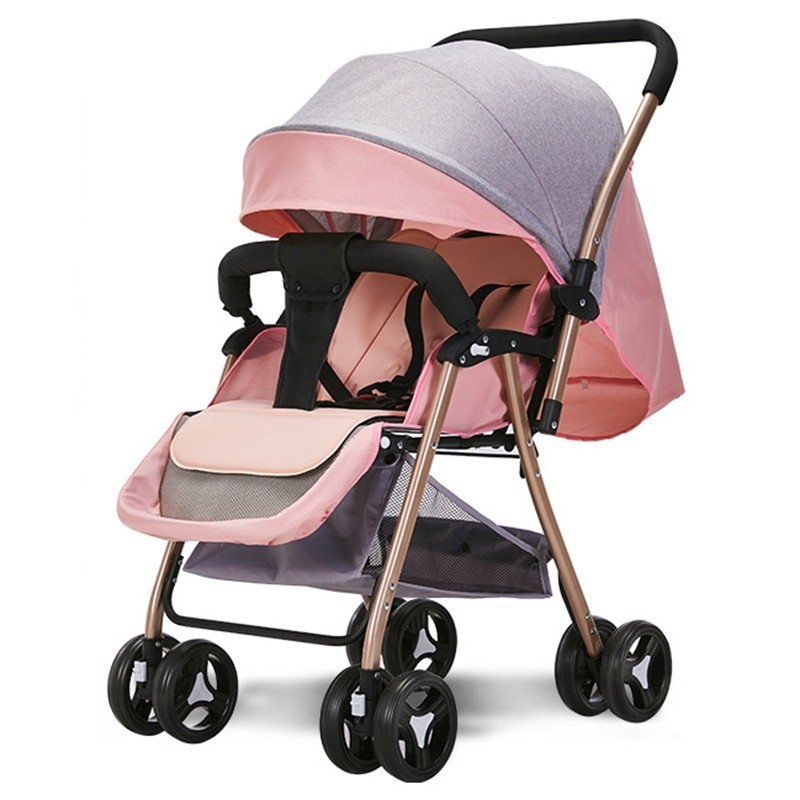 516A Two-way Sitting Reclining Stroller - Pink Rose - 5I53275318