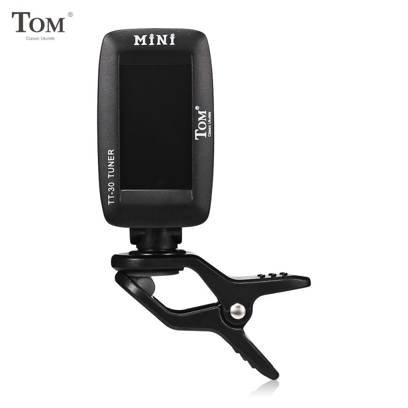 TOM TT - 30 Clip-on Automatic Digital Tuner for Ukulele Bass Guitar - Black - 5L15254113