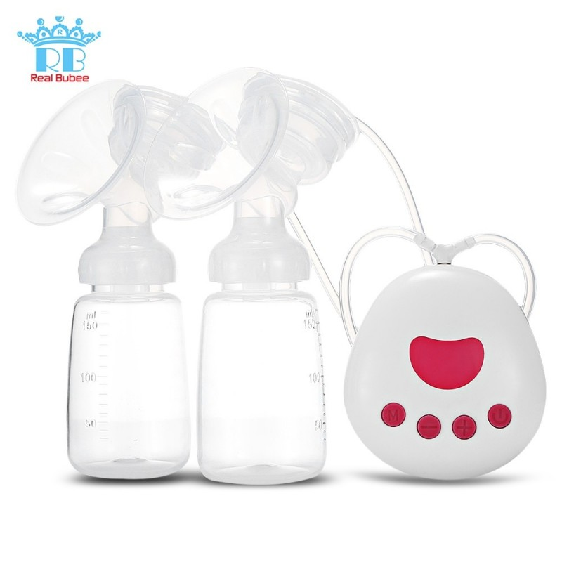 RealBubee RBX - 8025 - 2 Infant Breastfeeding Double USB Electric Breast Pumps - White - 3D76938712