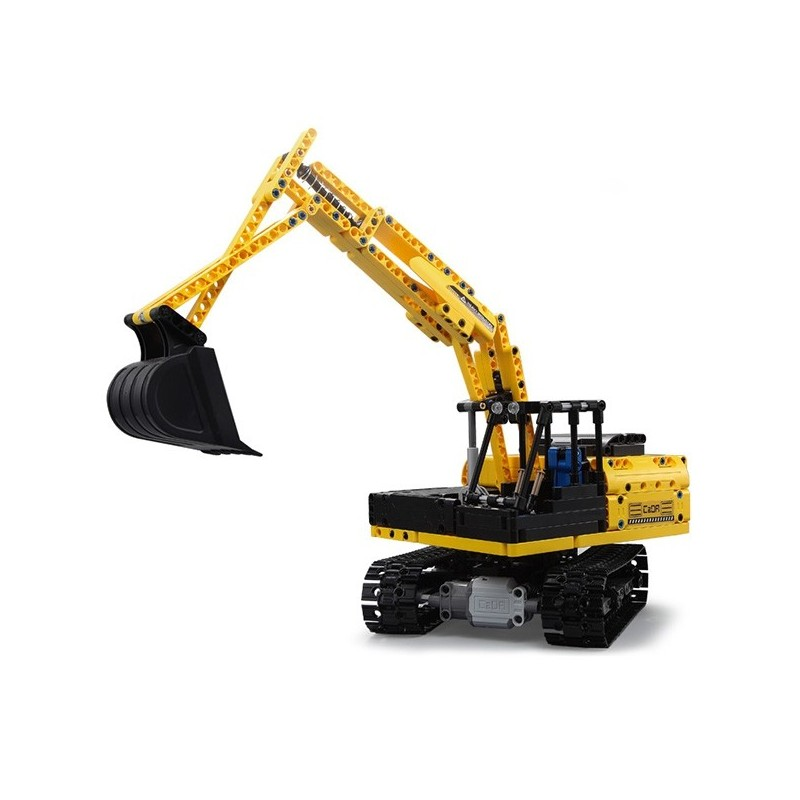 CaDA C51057W Electric Remote Control Assembly Crawler Excavator Truck Toy - Yellow - 5Z49201912
