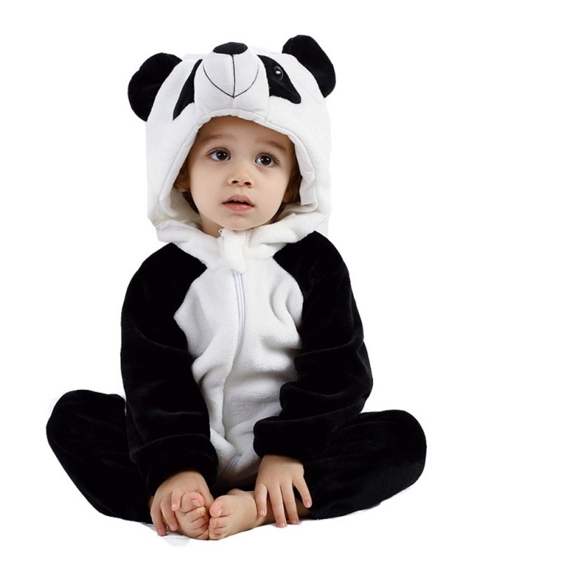 Baby Long Sleeve Cartoon Animal Modeling Warm Romper - Multi-A - 4507467710