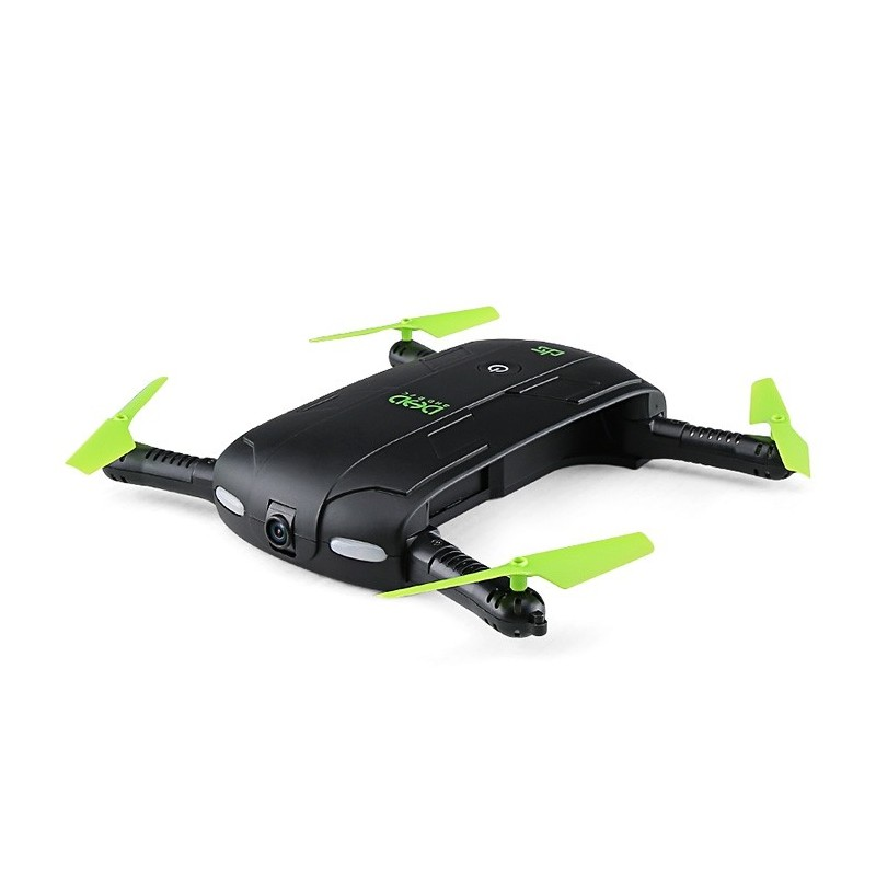 DHD D5 Mini Foldable RC Pocket Quadcopter BNF WiFi FPV 0.3MP Camera / G-sensor Mode / Waypoints - Black - 3S29728012
