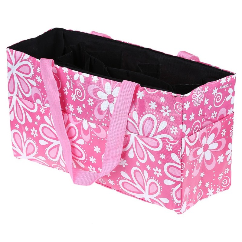 Multipurpose Flower Print Waterproof Separate Mummy Handbag - Pink - 2383282612
