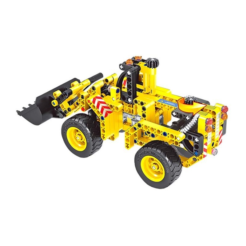 2-in-1 Transformable Assembly Building Blocks Car for Children Puzzling Toys - Yellow - 3D89142112
