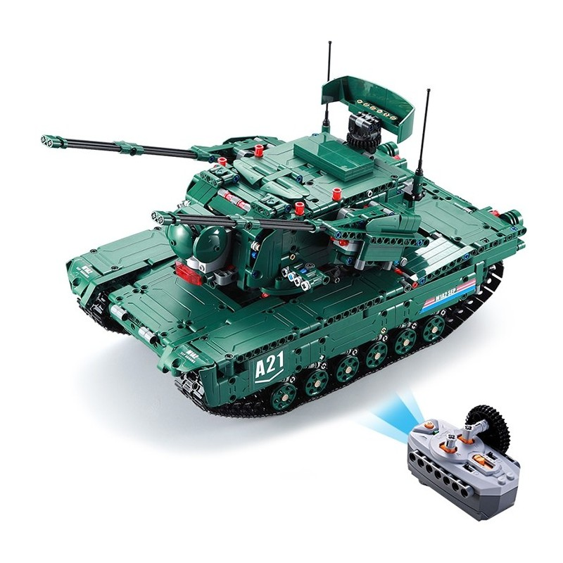 CaDA C61001W Blocks Tank Creative Toy - Medium Forest Green - 4N84291812