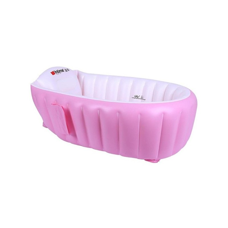 Intime YT - 226A Air Inflation Baby Tub Skin-friendly Swimming Pool - Pink - 5U56345813