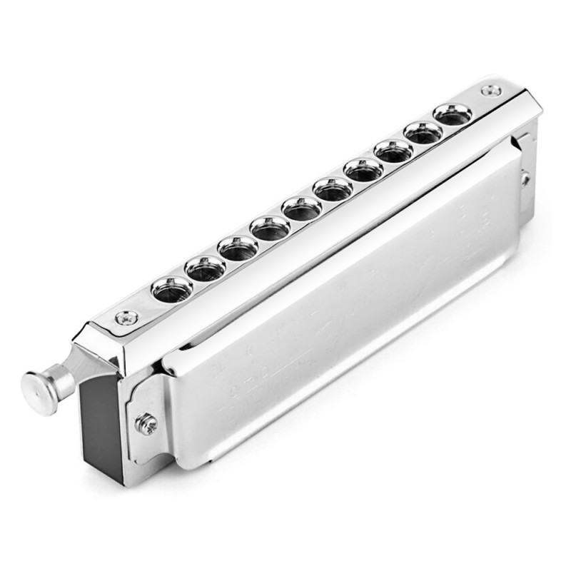 SWAN 10 Holes 40 Tones Key of C Silver Chromatic Harmonica - Silver - 5Z54468512