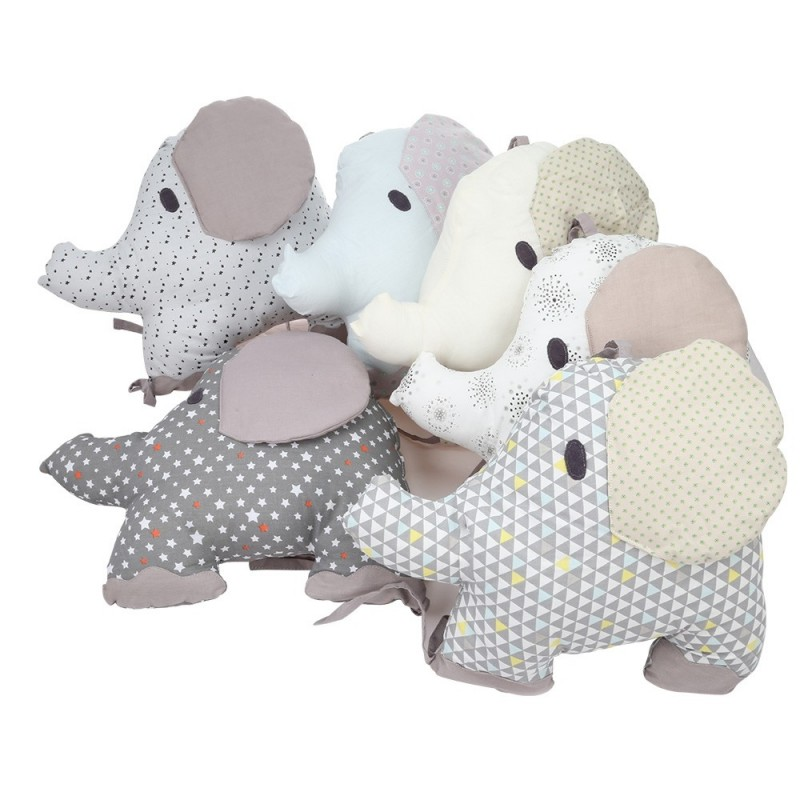 Elephant Baby Bed Bumper Combination Backrest Cushion 6pcs - Colormix - 3J46477612