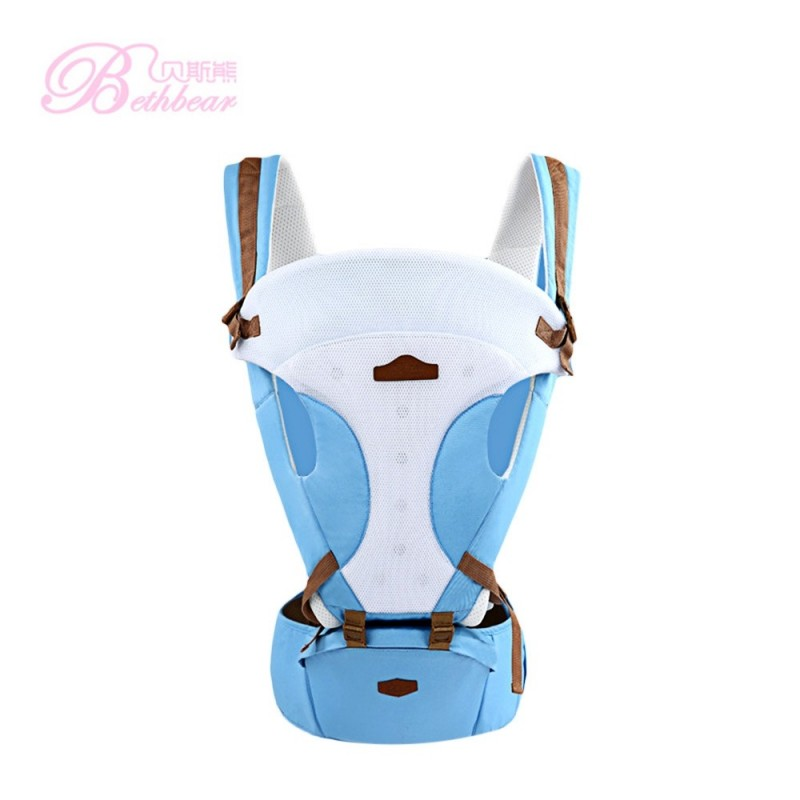 Bethbear Comfortable Breathable Multifunction Carrier Infant Backpack Waist Stool Baby Hip Seat - Light Blue - 2007775912