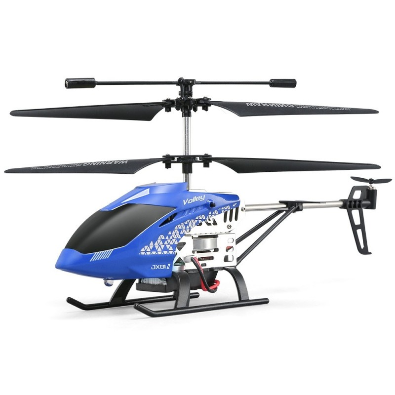 JJRC JX01 RC Helicopter Barometer Altitude Hold Strong Power Aluminum Alloy Construction - Blue - 3585706313