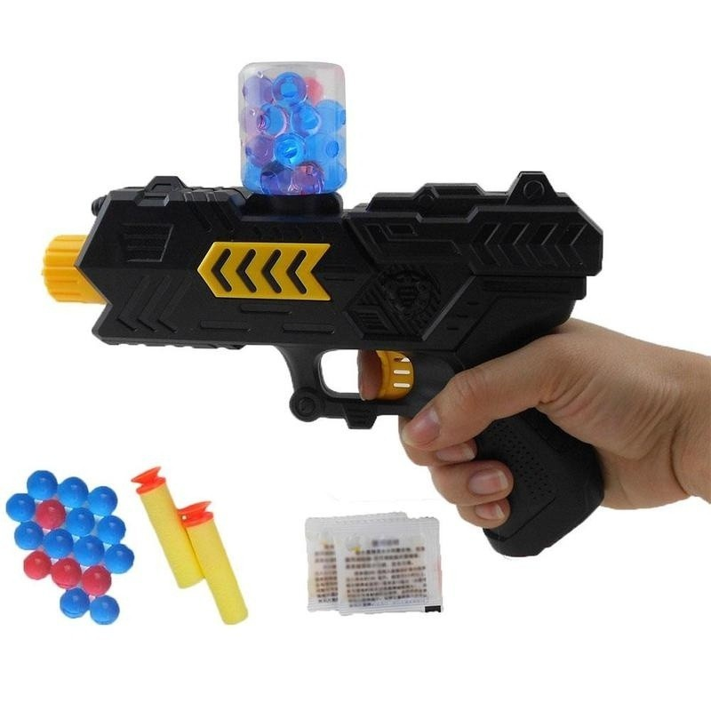 Simulation 2 in 1 Soft Bullet Shooter Water Ball Toy Gun - Black - 3271913012