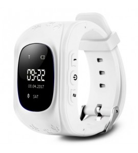 Q50 Children OLED Display GPS Intelligent Watch Telephone - White - 2O08342219