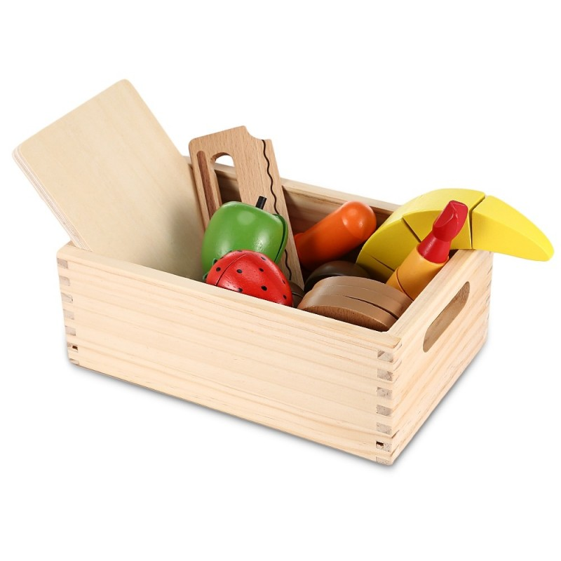 13pcs Wooden Imitated Cutting Fruits and Vegetables Toy - Colorful - 3A26453612
