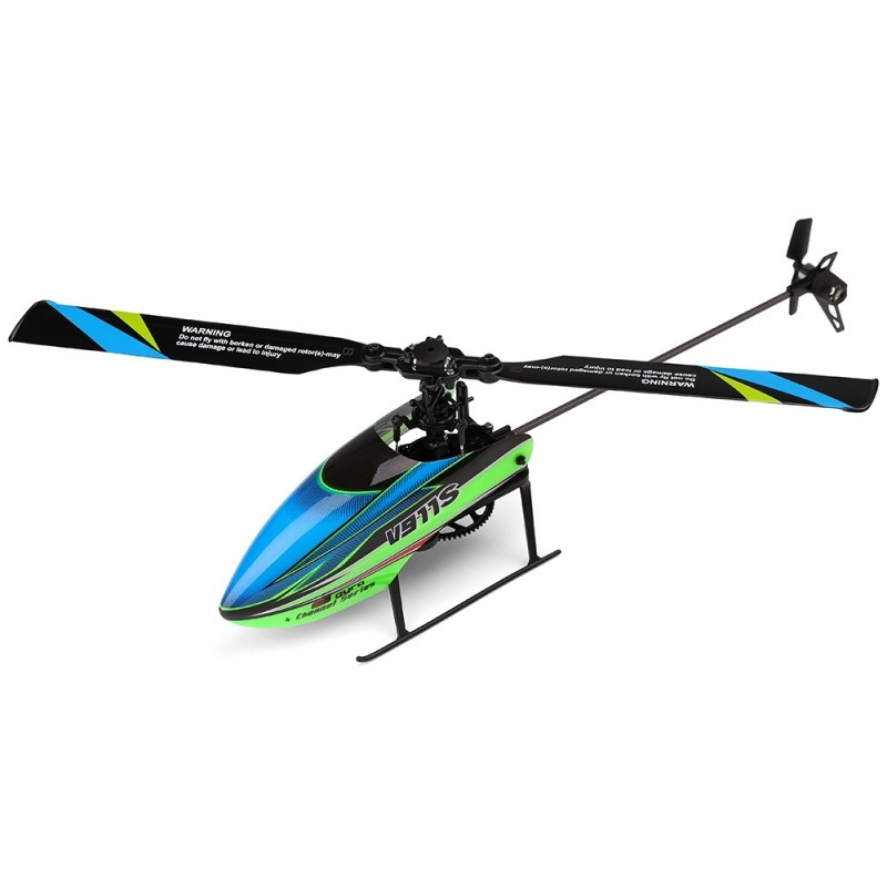 WLtoys V911S 2.4G 4CH 6-Aixs Gyro Flybarless RC Helicopter RTF - Green - 3H08159112