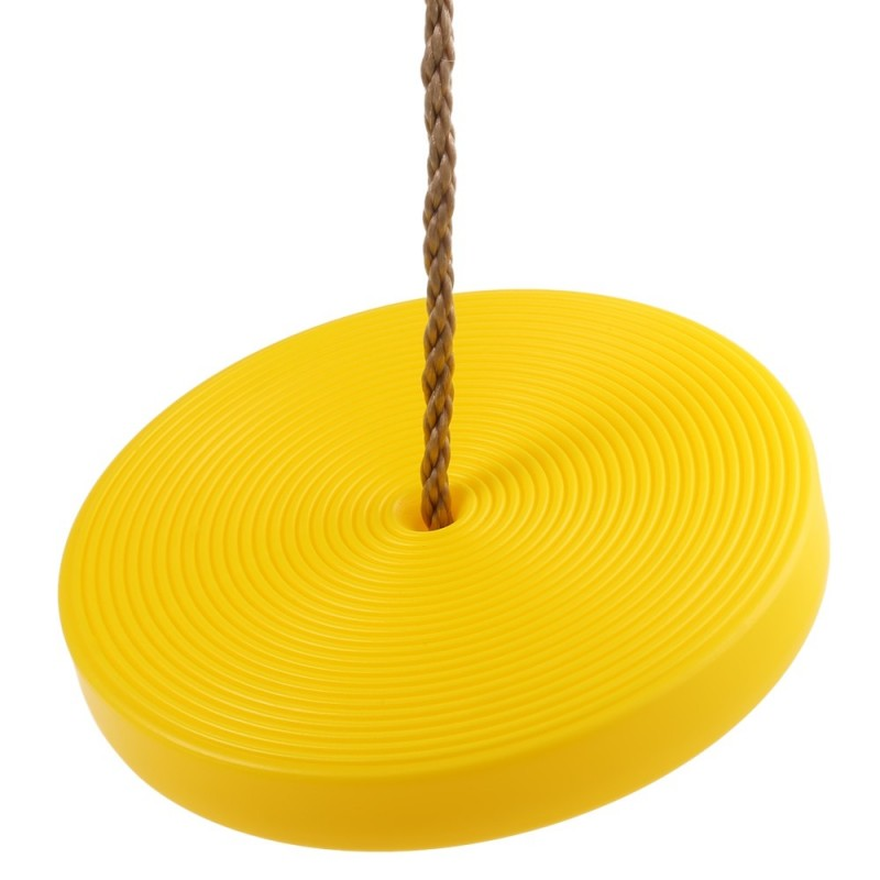 Kids Plastic Disc Swing Hanging Seat Outdoor Toys Playground Fitness Game - Yellow - 2N95752712