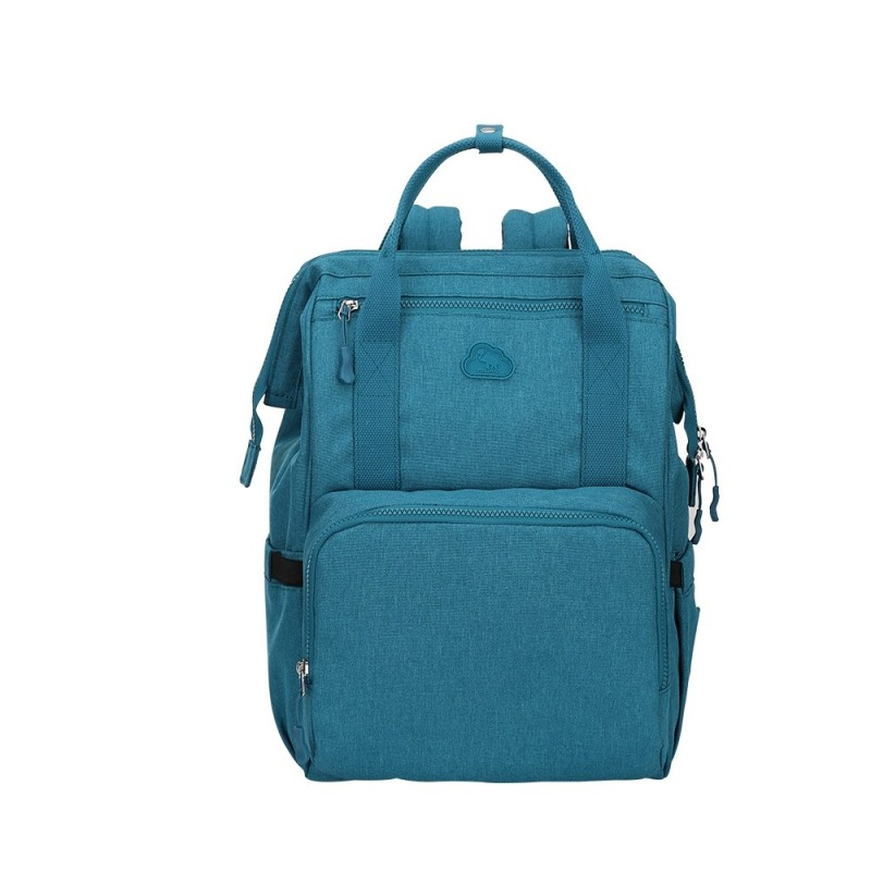 OIWAS Mommy Backpack Large Capacity Waterproof Lightweight Diaper Bag - Greenish Blue - 3W87456114