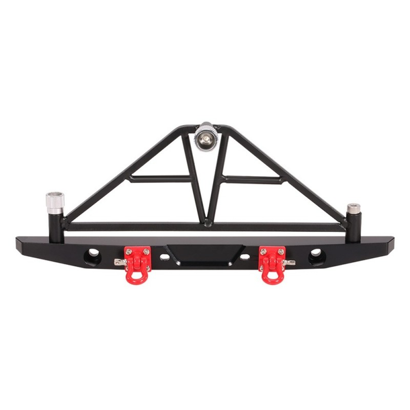 AX - 20002 Aluminum Rear Bumper with LED Light for RC Car - Black - 3279026812