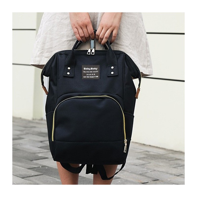 Multifunctional Waterproof Backpack for Daily Use - Black - 5149485512