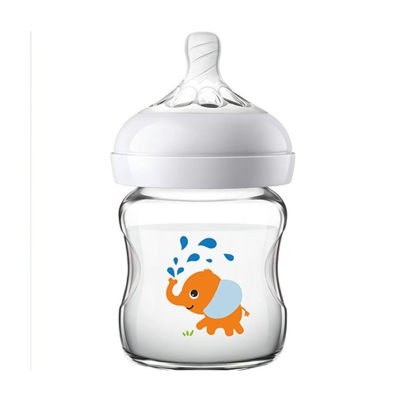 Philips Avent SCF672 / SCF674 Baby Wide-bore Glass Nursing Bottle - White - 5K40828214