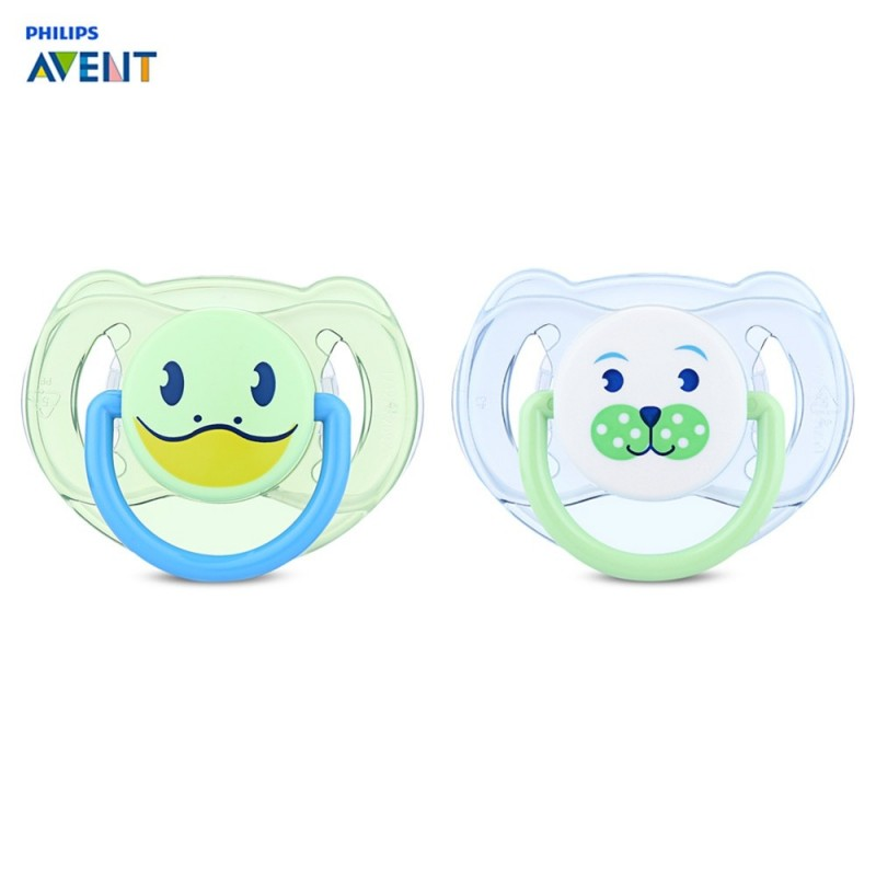 Philips Avent 2pcs Baby Soother Infant Pacifier Silicone Nipple - Blue Green - 3Z57856712