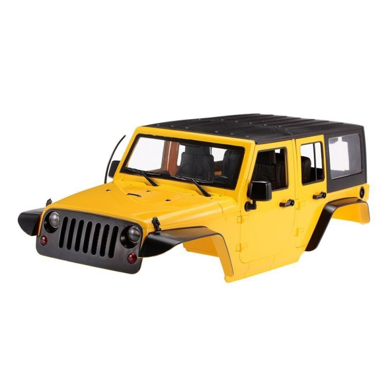 HM1576 High Quality 1:10 Crawler Car Shell for Axial SCX10 - Yellow - 3P78889313