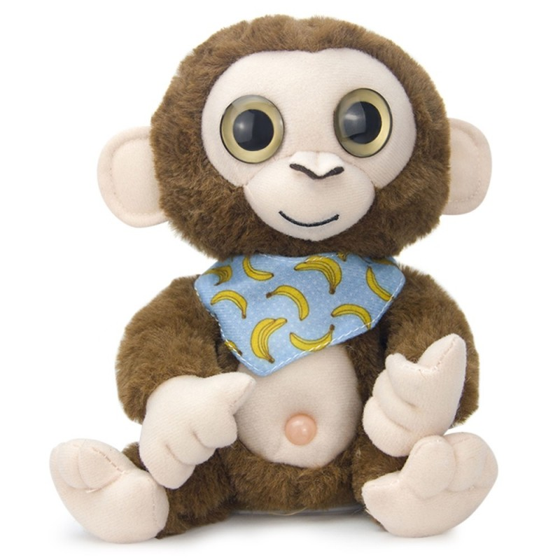 Stuffed Plush Toy Electric Monkey Talk Repeat Speak Record Body Swing Doll - Deep Brown - 5L57303415