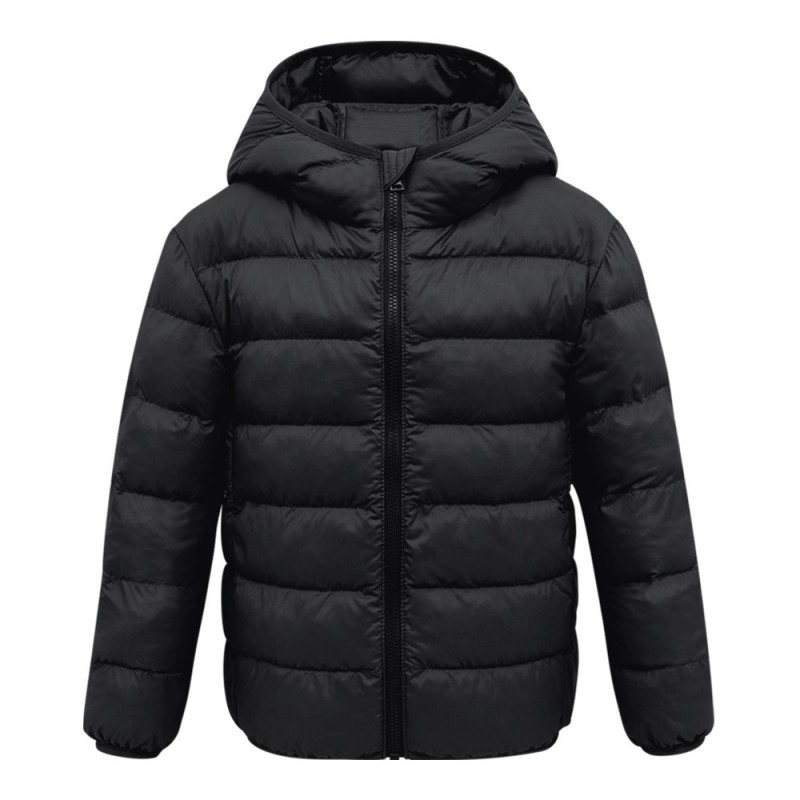 Lightweight Cotton-padded Unisex Coat for Children - Black - 4L42598433