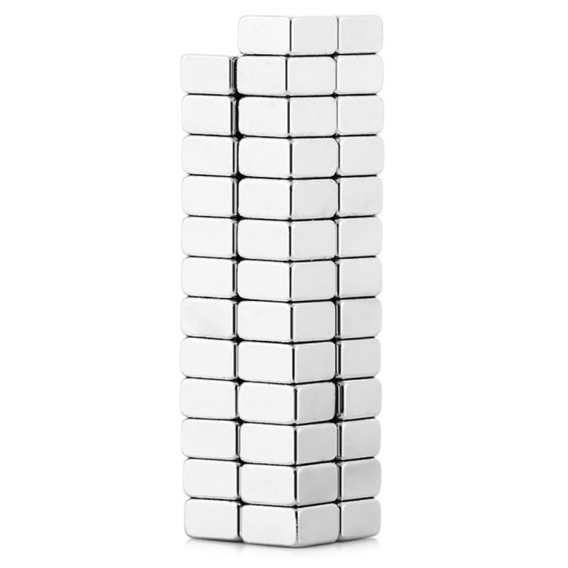 50Pcs 5 x 5 x 5mm N38 Strong NdFeB Square Magnet Birthday DIY Intelligent Gift - Silver - 2F91156712