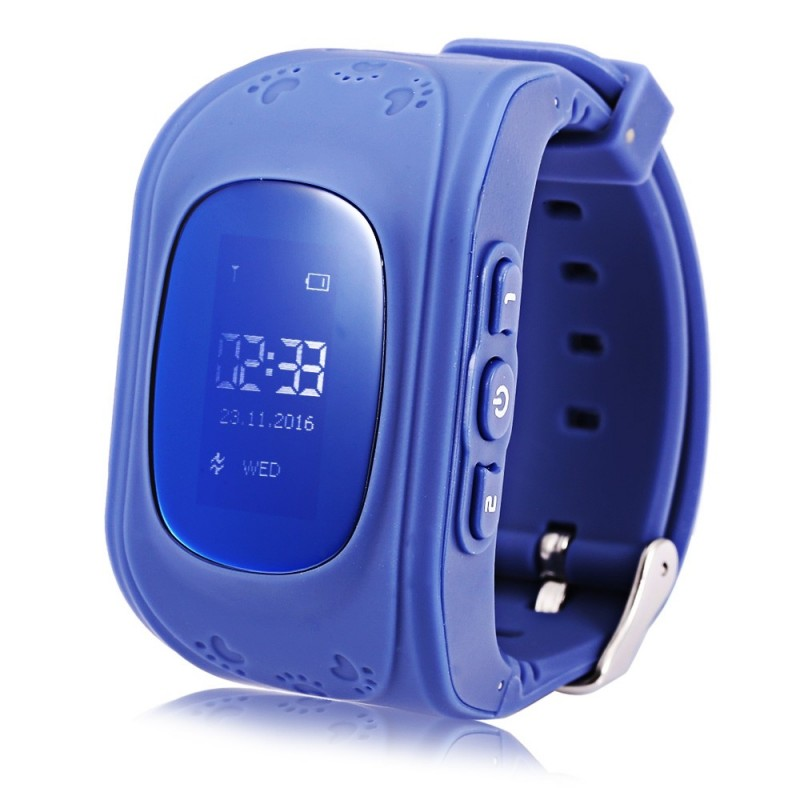 Q50 (q1213) English Version Kids GPS Smart Watch Telephone - Deep Blue - 2O87190510