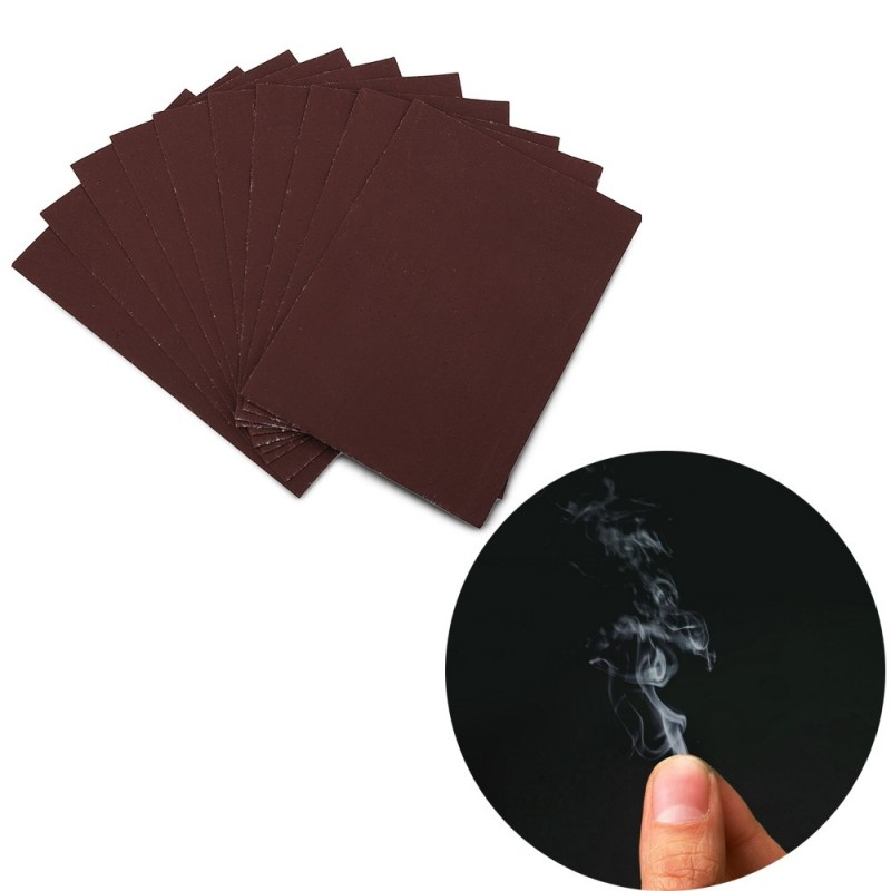 Smoke From Finger Tip Magic Trick Surprise Prank Joke Mystical Fun - 10pcs / set - Deep Brown - 2N02511312