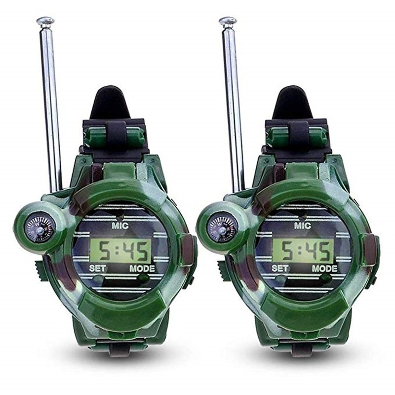 2PCS Children Parent Wrist Watch Walkie Talkie Kids Intercom Outdoor Toy - Army Green - 4Q26371012