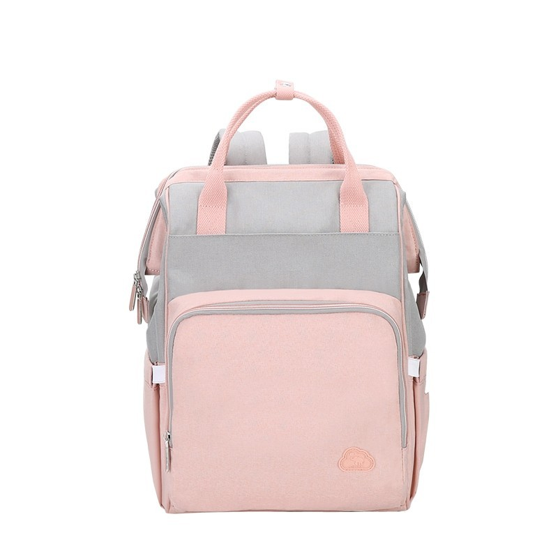 Oiwas Mommy Backpack 18.3L Large Capacity Waterproof Diaper Nappy Bag Handbag - Pink - 3G89346112