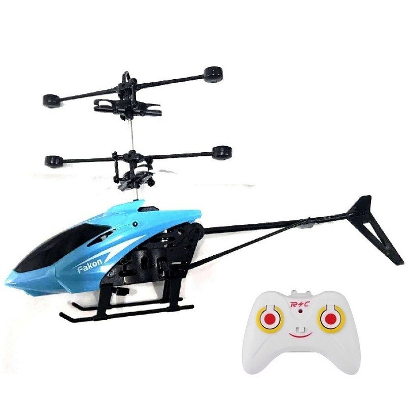 RC Hand Induction Flying Aircraft Helicopter Toys for Kids - Ocean Blue - 4618769412