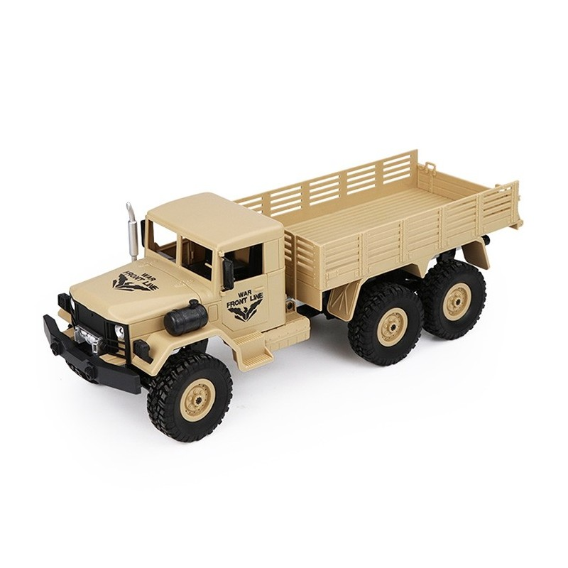 JJRC Q63 1/16 2.4G 6WD Off-Road Military Truck Crawler RC Car - Champagne - 4P41838112