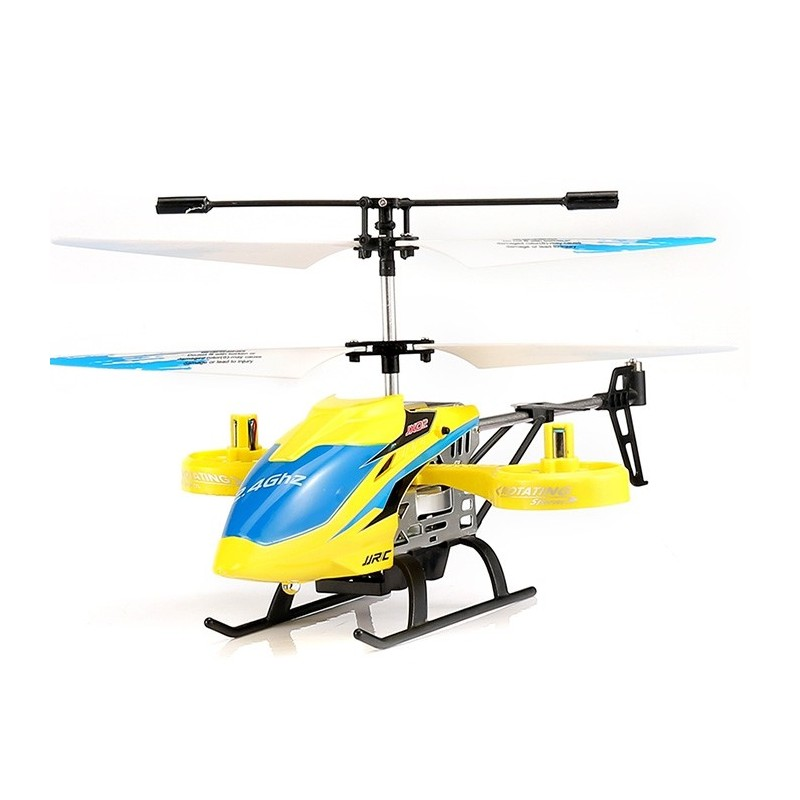 JJRC JX02 2.4G 4CH RC Helicopter Altitude Hold / Side Propellers / Light Control - Yellow - 5V57404413