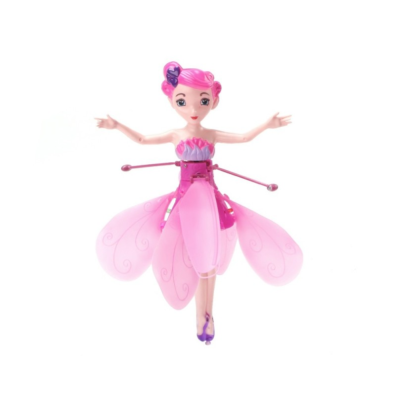 Infrared Induction Control Flying Fairy Dolls - Dimorphotheca Magenta - 4D24896512