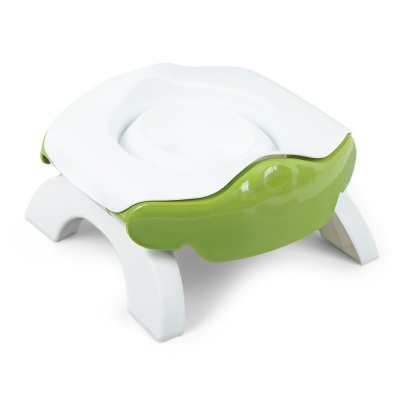 3-in-1 Folding Kids Travel Toilet Potty Seat with Reusable Liner - Green Onion - 4Q22433912