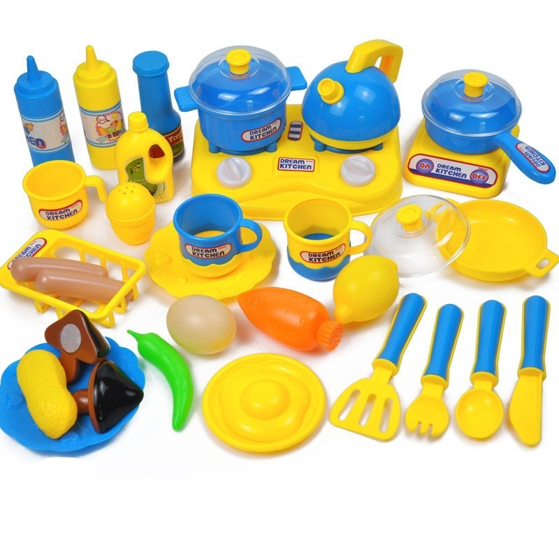 Early Educational Safety Kitchen Toys Sets - Multi-B - 4X80086113