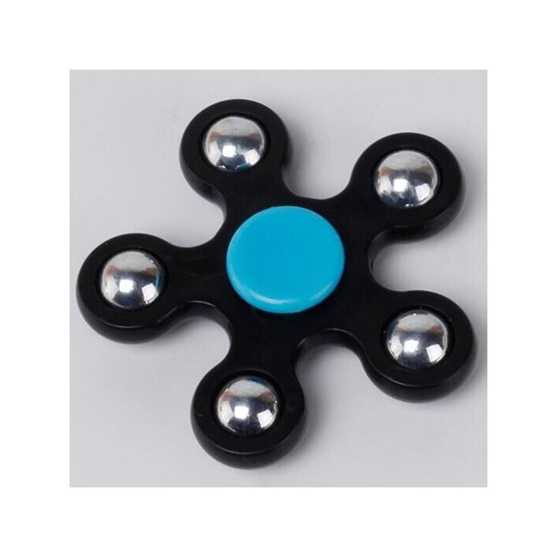Stress Relief Toy Ball Bearing Fidget Spinner - Black - 3Y23694214